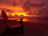 sunset chair poster