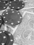 playing cards and poker chips poster