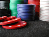 stack of poker chips poster