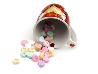 valentines candy and mug
