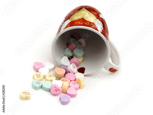 valentines candy and mug