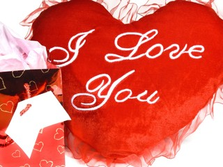 gift bag,and heart