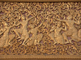 laos temple detail poster