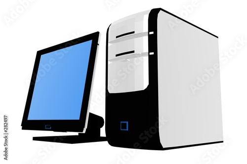 isolated desktop computer i