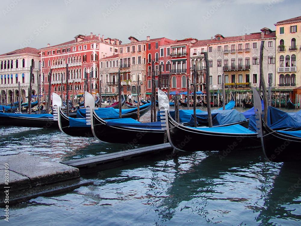 venezia włochy gondola - powiększenie