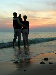 family. sea. sunrise.