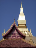 roof laos temple poster