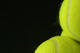 closeup of tennis balls, right poster