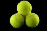 stacked tennis balls poster