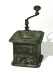 vintage coffee grinder with path poster