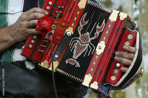 Leinwanddruck Bild accordian
