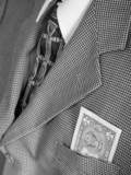 dollar bill in business suit poster