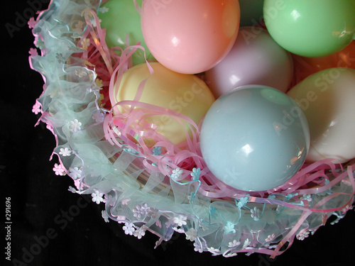colorful easter eggs on black background