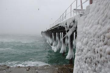 freezing pier