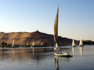 sailing on the nile