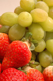 grapes strawberries poster