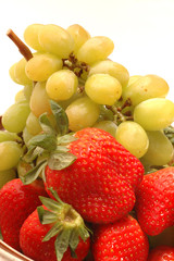 strawberries grapes
