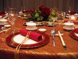 wedding banquet table setting poster