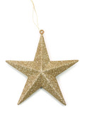 golden christmas star poster