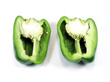 cutted green pepper poster