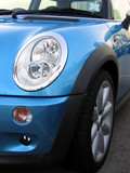 mini cooper headlight  (vertical) poster