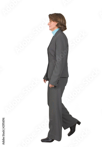 business woman walking poster