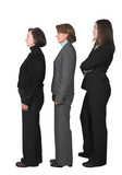 business people in a row poster