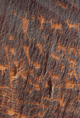 men and sheep petroglyphs