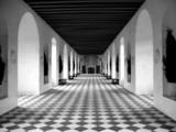 checkerboard floor - 296236