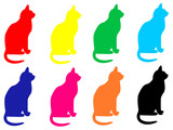 cat characters poster
