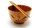 wooden bowl and chopsticks 2 poster