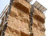 artificial climbing wall poster