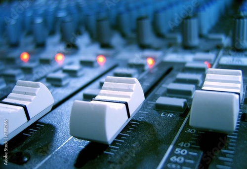 canvas print picture audio faders