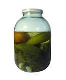 jar of marinaded vegetables poster