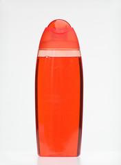 red soap bottle