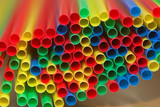 colored straws poster