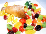 dessert with fruit poster