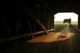 through a covered bridge poster