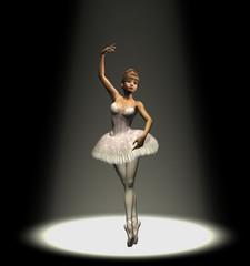 ballerina in spotlight