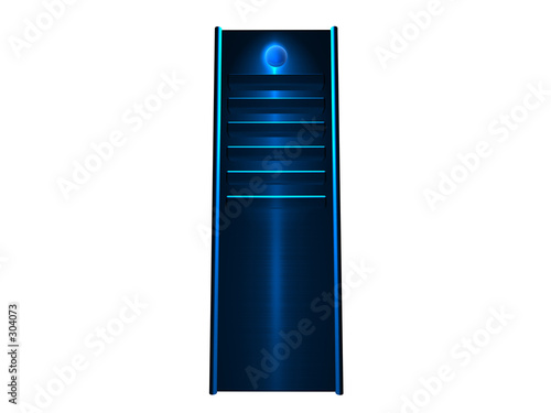 poster of 3d server - blue glowing