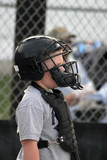 young baseball catcher poster