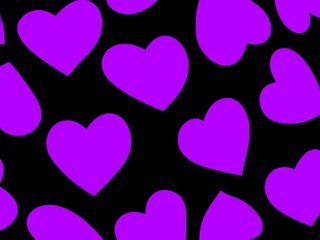 heart background purple