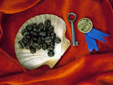 coffee, key, shell , gold medal poster
