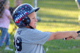 boy catching baseball poster