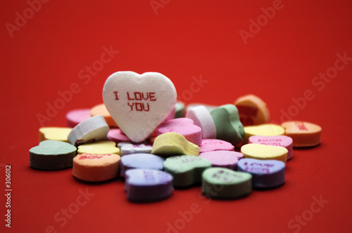 valentine - 'i love you' message heart