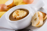 a bowl of french onion soup poster