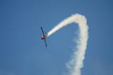 plane with smoke poster
