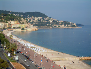 nice bay, south of france riviera,
