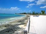 bahamas beach line poster