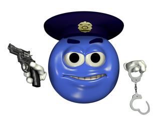 police officer emoticon